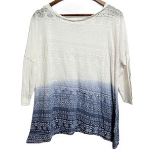 Maurices Sheer 3/4 Sleeve Top Size Large